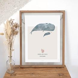 Papeterie - Big love, Les baleines, Dream Big, 30 x 40 cm - 0