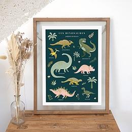 Papeterie - Les dinosaures, Chambre Enfant, 30 X 40 cm - 0