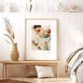 Affiches 3 photos Bébé, Nom & date de naissance, 30 X 40 cm pas cher