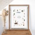 Affiches Maison du Bonheur, Déco Chambre, 30 X 40 cm