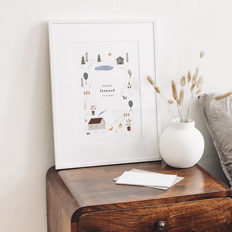 Affiches Maison du Bonheur, Déco Chambre, 30 X 40 cm gratuit