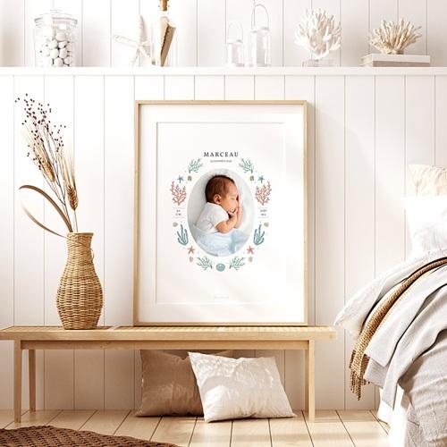 Affiches Danse de Bébé, Coraux & étoiles de mer, 30 X 40 cm pas cher
