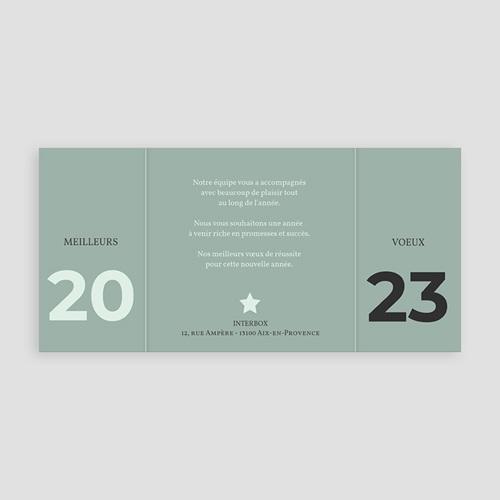 Carte de Voeux Professionnelle - Noir & Menthe 9291 thumb