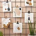Papeterie Art abstrait, Vases & Visages, lot de 12 pas cher