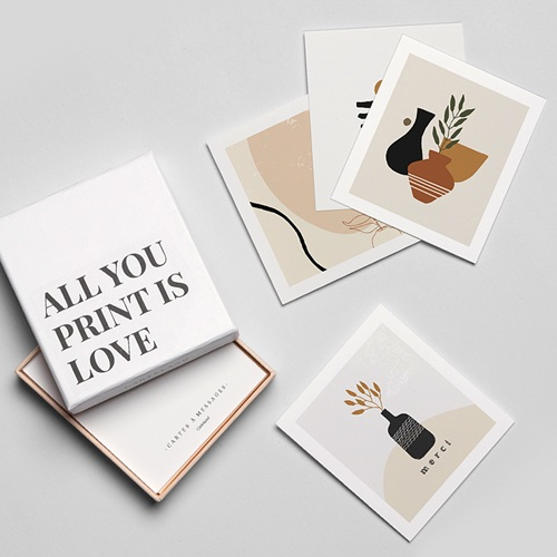 Papeterie Art abstrait, Vases & Visages, lot de 12 gratuit
