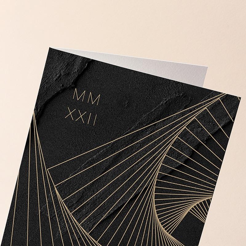 Carte de Voeux Entreprise Corporate, Hélicoïde, Marbre noir gratuit