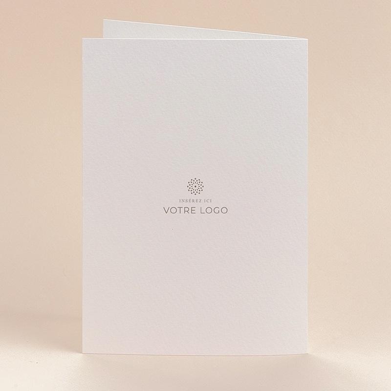 Carte de Voeux Entreprise Corporate, Hélicoïde, Marbre noir