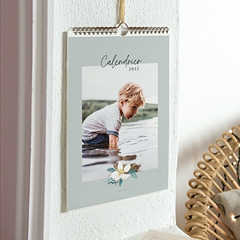 Calendrier Mural - Calendrier Mural grande photo, mois comme initiale - 0