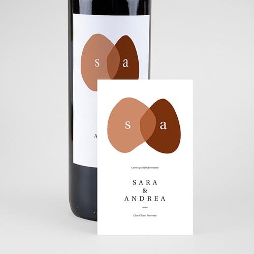 Étiquette bouteille mariage vin Vin, Abstrait couleur automnale, 8 X 13 cm pas cher