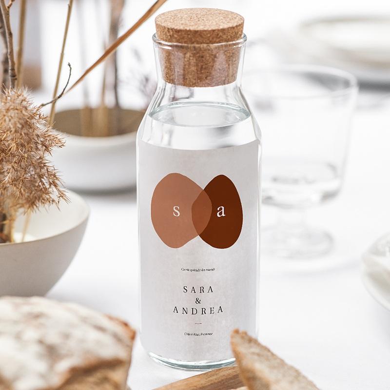 Étiquette bouteille mariage vin Vin, Abstrait couleur automnale, 8 X 13 cm gratuit