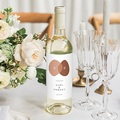 Étiquette bouteille mariage vin Vin, Abstrait couleur automnale, 8 X 13 cm