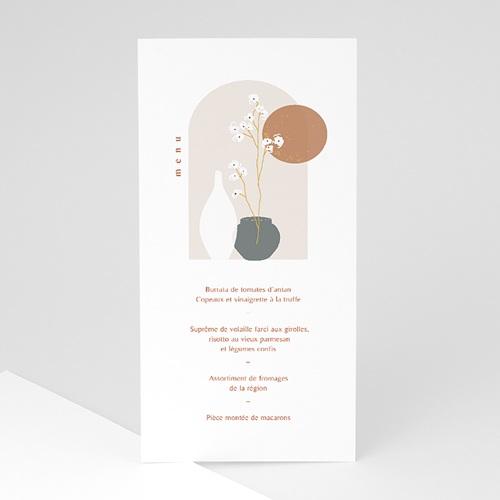 Menu Communion Chemin de Plénitude, vases japonisants