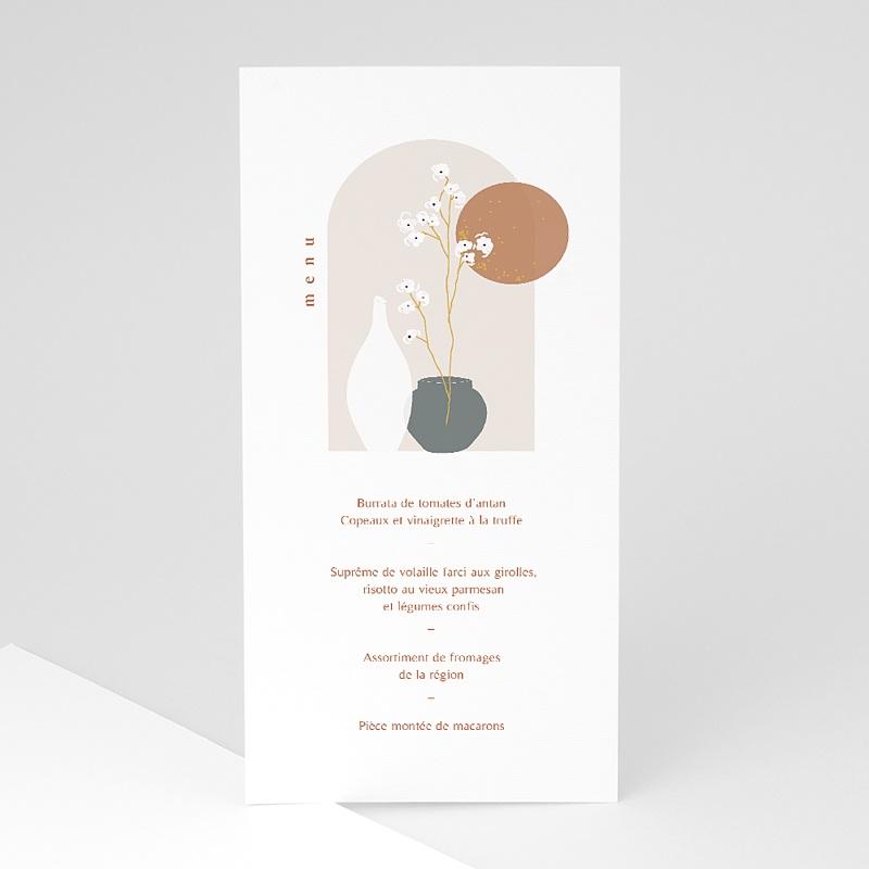 Menu Baptême Voie zen, Vases japonisants & dorure