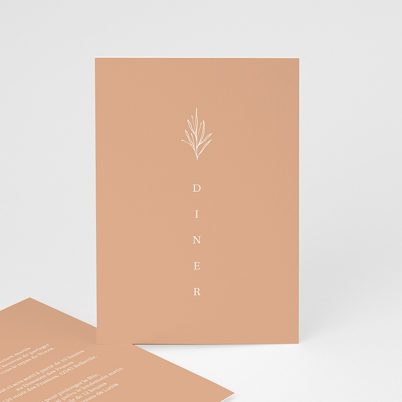 Carte Invitation Mariage Parfaite Harmonie, Ton pastel, Diner & Brunch