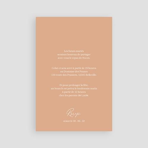 Carte Invitation Mariage Parfaite Harmonie, Ton pastel, Diner & Brunch pas cher