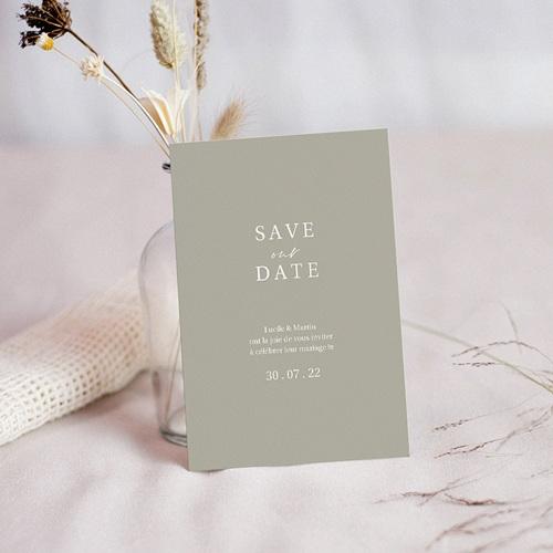 Save The Date Mariage Parfaite Harmonie, Ton pastel, Date à retenir