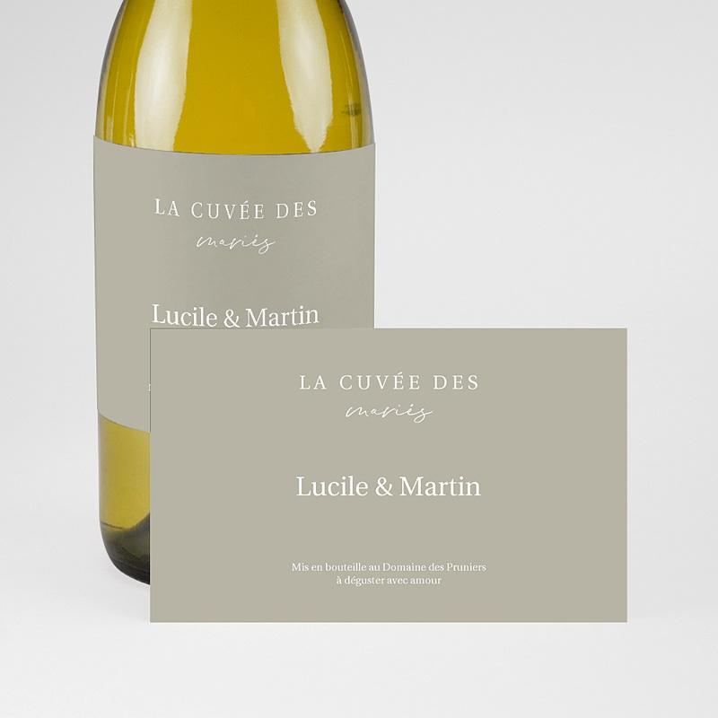 Etiquette Bouteille Champagne Parfaite Harmonie, Ton pastel, Champagne, 13 x 8 cm pas cher