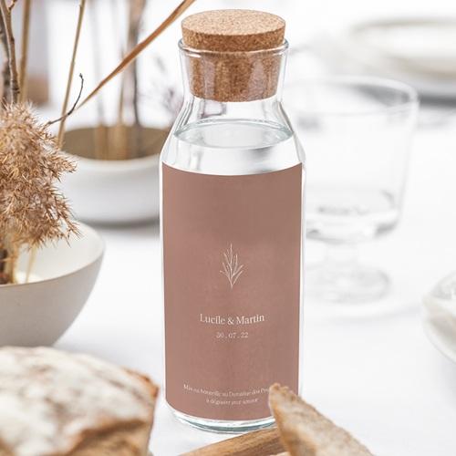 Étiquette bouteille mariage vin Parfaite Harmonie, Ton pastel, Vin, 8 X 13 cm gratuit