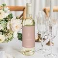 Étiquette bouteille mariage vin Parfaite Harmonie, Ton pastel, Vin, 8 X 13 cm