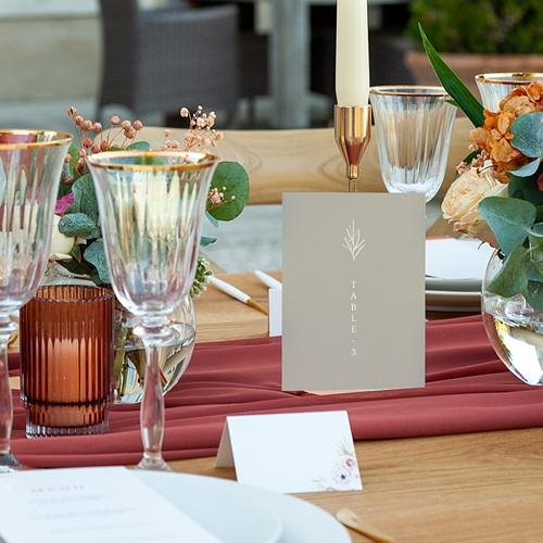 Marque Table Mariage Parfaite Harmonie, Ton pastel, Lot de 3 pas cher