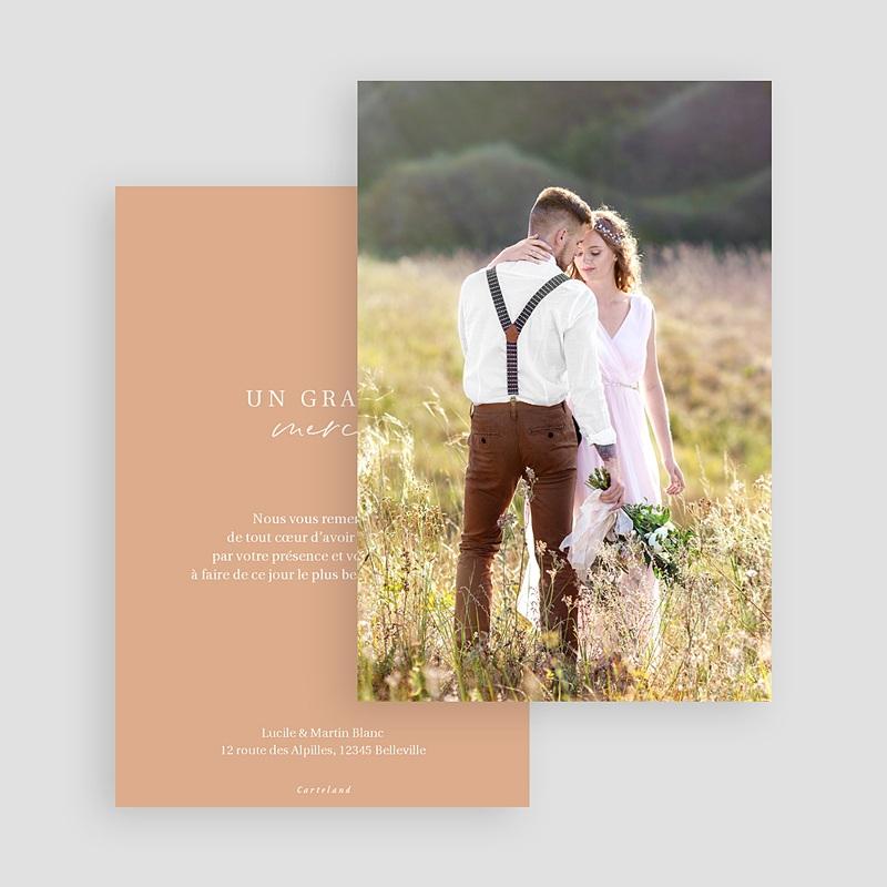 Carte Remerciement Mariage Photo Parfaite Harmonie, Ton pastel, Photo gratuit