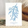 Faire-Part Mariage Vintage Gravure Monochrome, Citrons bleu Vintage, Recto-Verso