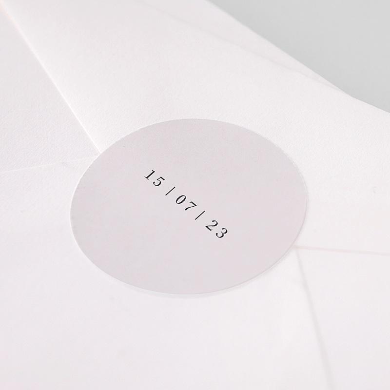 Etiquette Autocollante Naissance L'union parfaite nude chic, Sticker, 4,5 cm pas cher