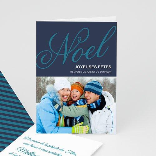Carte de Voeux 2018 - Bleu et Photo 9360