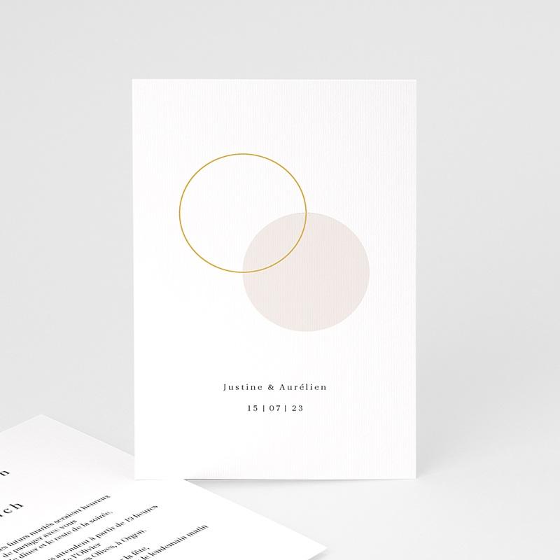 Carte Invitation Mariage L'union parfaite nude chic, Dîner & Soirée