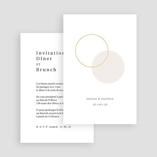 Carte Invitation Mariage L'union parfaite nude chic, Dîner & Soirée gratuit