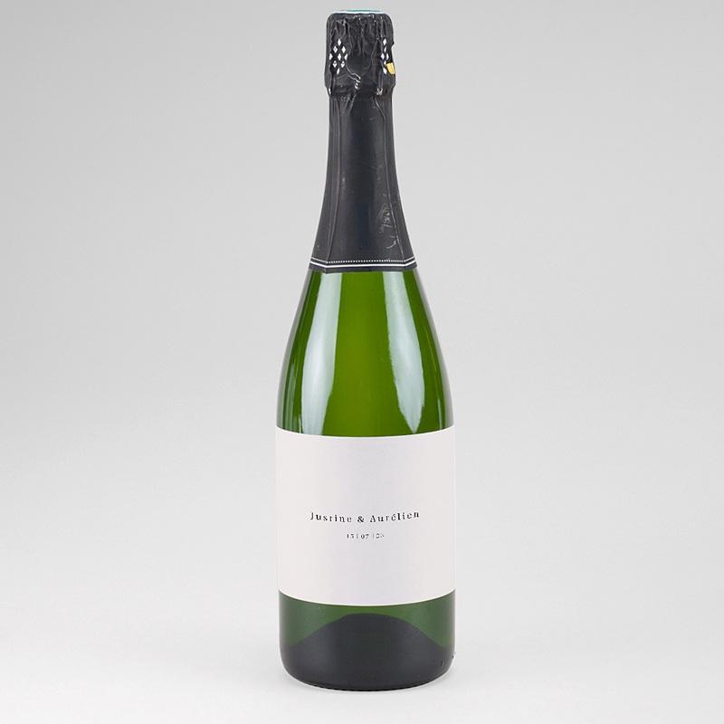 Etiquette Bouteille Champagne L'union parfaite, Nude Chic, champagne, horizontale 13 x 8 cm.