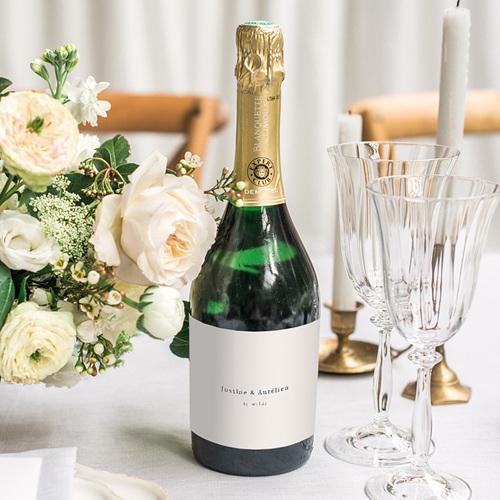 Etiquette Bouteille Champagne L'union parfaite, Nude Chic, champagne, horizontale 13 x 8 cm. gratuit