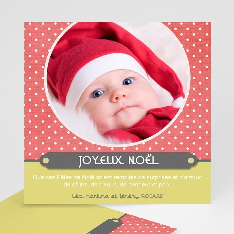 Carte Noël Joyeux Noël Adorable Corail