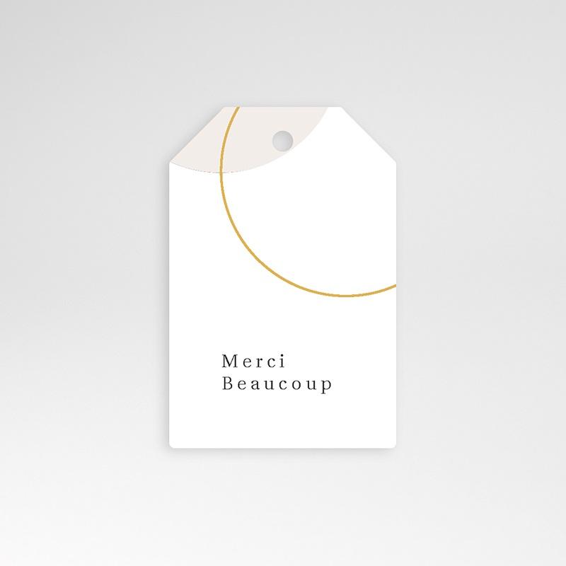Etiquette Cadeau Mariage L'union parfaite, Nude Chic, 6 x 4 cm, perforée