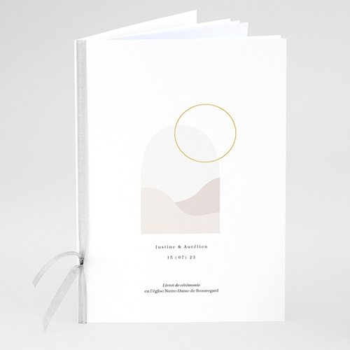 Livret Messe Mariage L'union parfaite, Couverture Livret, 15 x 22