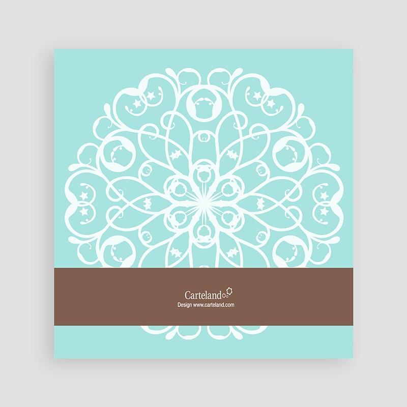 Carte de Voeux Meilleurs Voeux Mandala - Blanc-Bleu pas cher