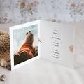 Carte Remerciement Naissance Garçon Douce Miniature, Renard roux & Photo, double volet pas cher