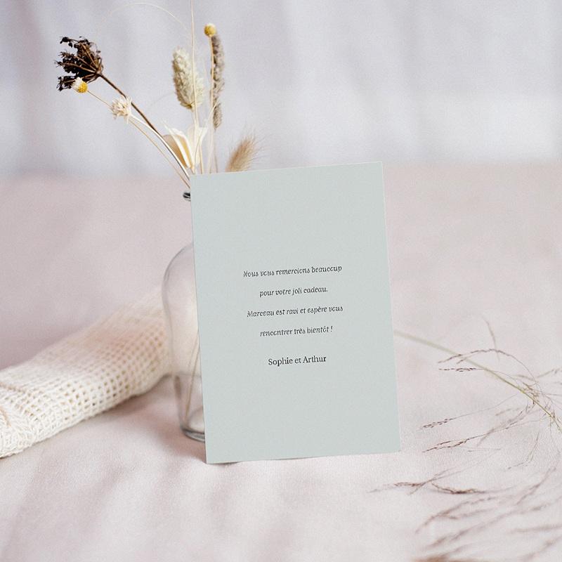 Carte Remerciement Naissance Garçon Danse de l'océan, coraux & étoiles de mer, 10 x 14 cm pas cher