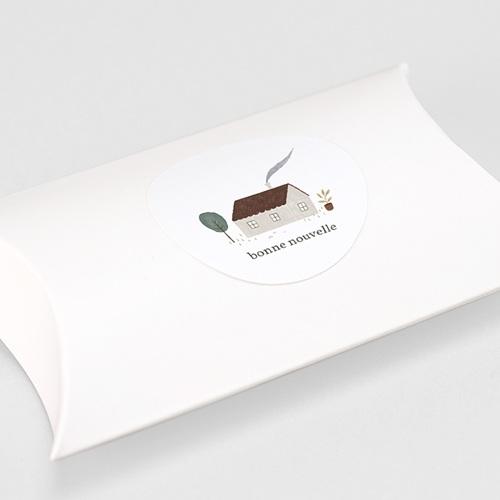 Etiquette Autocollante Naissance Maison du Bonheur, autocollant, Ø 4.5 cm gratuit