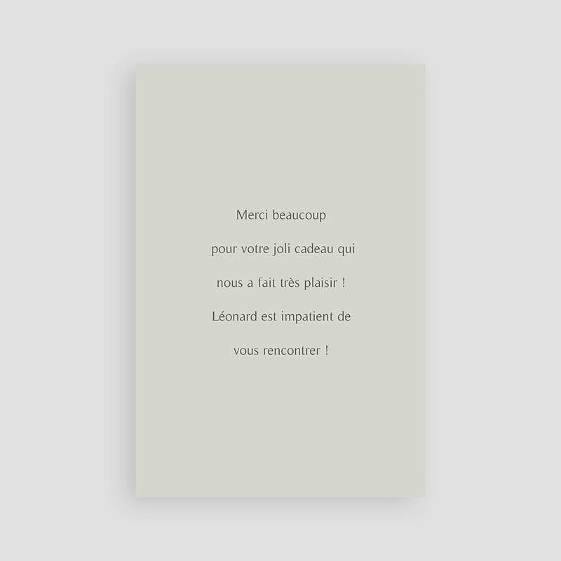 Carte Remerciement Naissance Garçon Maison du Bonheur, Recto Verso, 10 x 15 cm pas cher