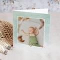 Faire-Part Naissance Photo Petits Pieds Dorés, dorure & photos, double volet
