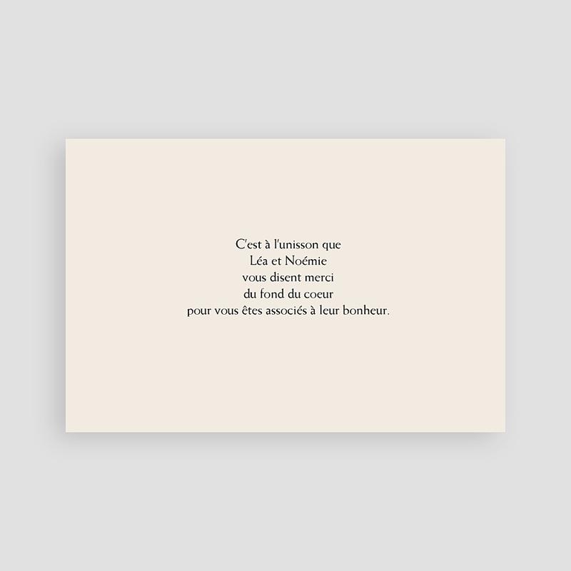 Carte remerciement pacs Belle Dentelle pas cher