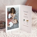 Faire-Part Naissance Animaux Mobile Joli Safari, Photo, Double volet pas cher