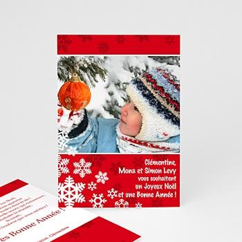 Carte de voeux Joyeux Noel et Bonne Année Dentelle d'Hiver personnalisé