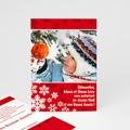 Carte de Voeux Joyeux Noel et Bonne Année Dentelle d'Hiver