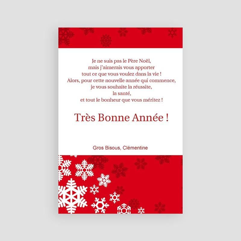 Carte de voeux Joyeux Noel et Bonne Année Dentelle d'Hiver pas cher