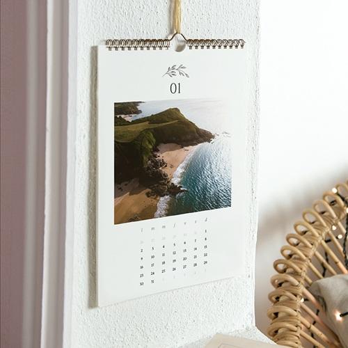 Calendrier Mural Naturel Délicatesse, une photo par mois, A4 pas cher