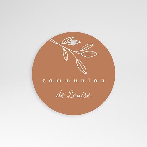 Étiquette Communion Nourriture spirituelle, rameau, perforée, Ø 4,5 cm