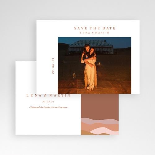 Save The Date Mariage Invitation au Voyage, Couleurs Sahara, Photo pas cher