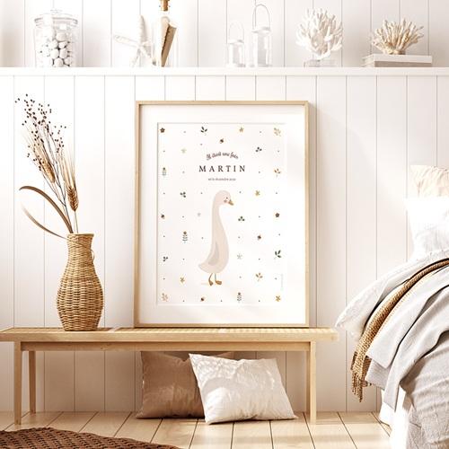 Affiches Oie d'Automne, Poster Chambre enfant, 30 x 40 cm pas cher